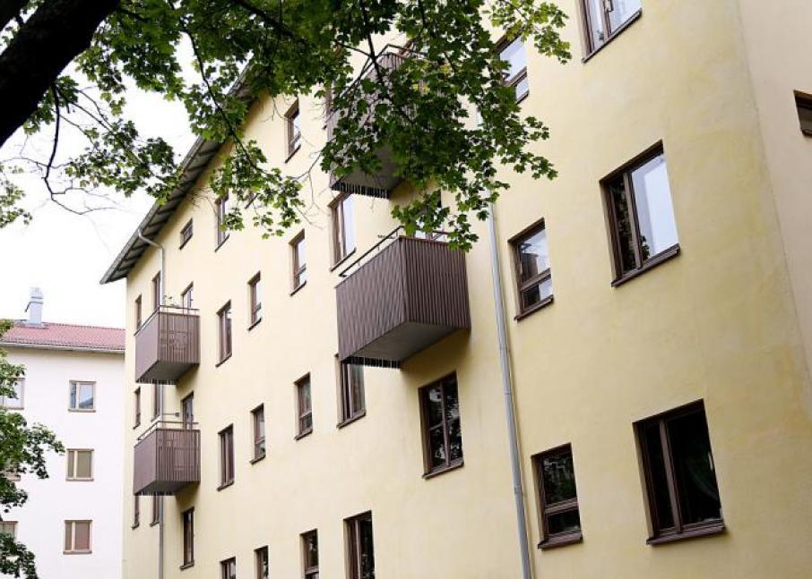 Kuvassa Hekan kiinteistö Käpylässä osoitteissa Mäkelänkatu 78-82.
