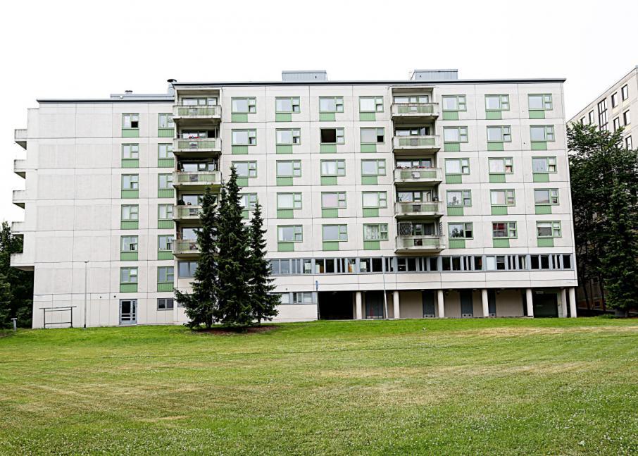 Kuvassa Hekan kiinteistö Itä-Pasilassa osoitteessa Pakkamestarinkatu 2.