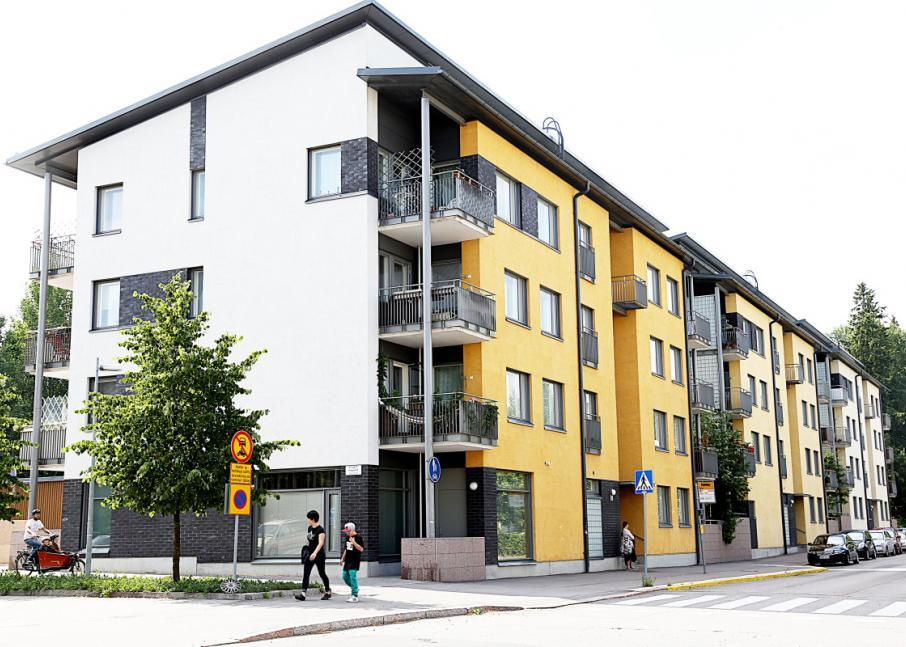 Kuvassa Hekan kiinteistö Kumpulassa osoitteessa Väinö Auerin katu 6.